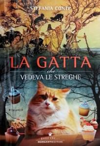 Copertina libro di Stefania Conte, La gatta che vedeva le streghe